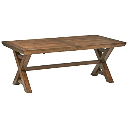Stone & Beam Alejandra Casual Wood Dining Kitchen Table, Brown
