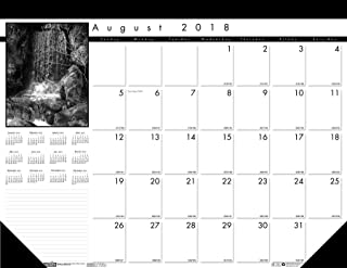 product image for House of Doolittle 2018-2019 Monthly Desk Pad Calendar, Academic, Black On White, 22 x 17 Inches, August to August (HOD1225-19)