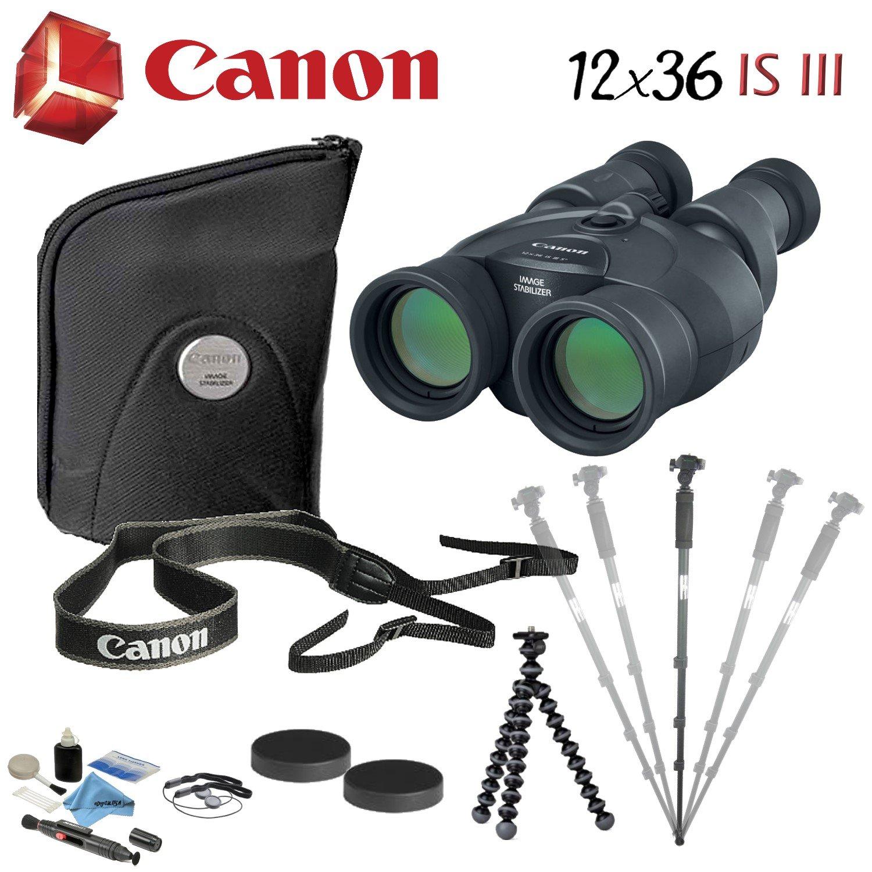 Canon双眼バンドル B07CRNVYC2 12x36 IS III Image Stabilized Binocular|Advanced Bundle Advanced Bundle 12x36 IS III Image Stabilized Binocular