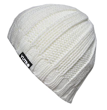 eb172479502 YUTRO Fashion Unisex Winter Wool Knitted Fleece Lined Ski Beanie Hat OFF- WHITE  Amazon.ca  Luggage   Bags
