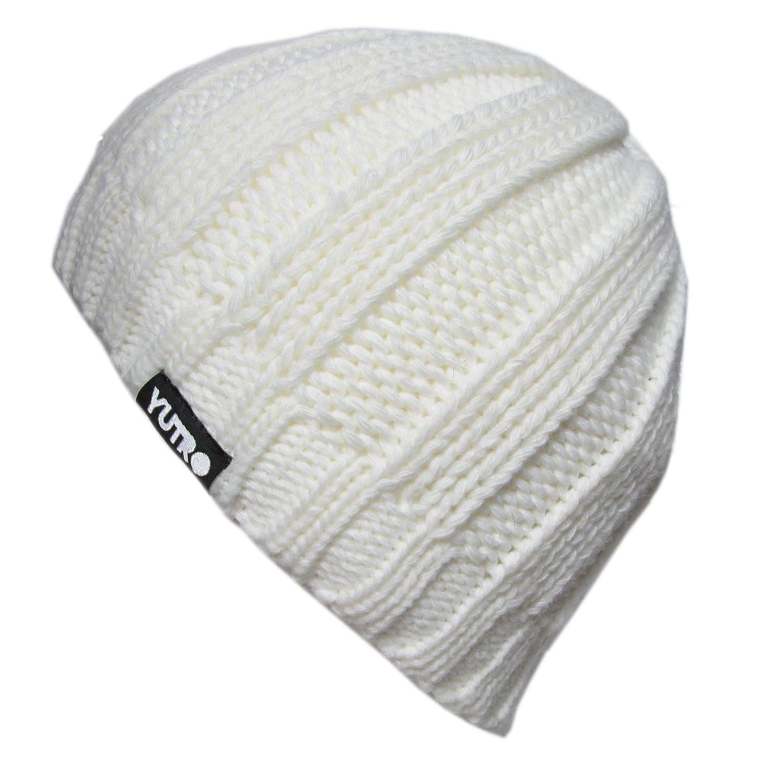 YUTRO Fashion Winter Wool Knitted Fleece Lined Ski Beanie Hat