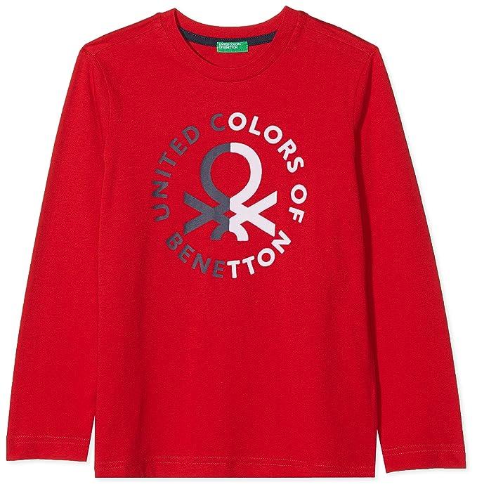 United Colors of Benetton T-Shirt L/s, Camiseta para Niños, Rojo