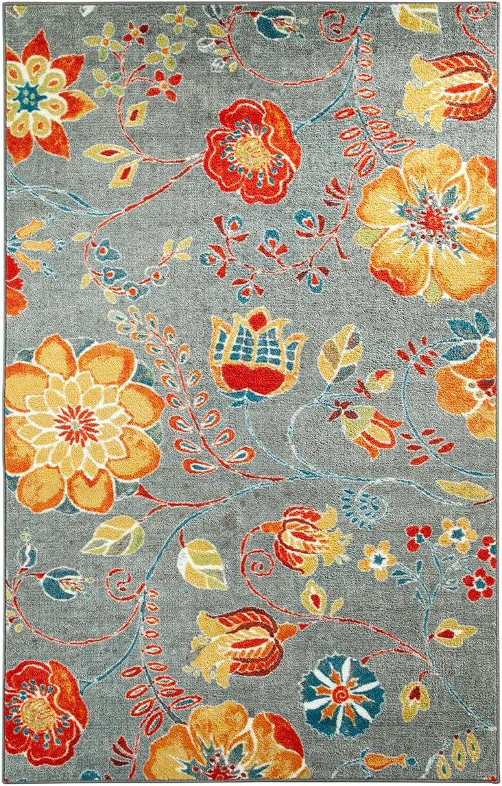 Mohawk Home Strata Free Spirit Floral Printed Area Rug, 5 x8 , Grey