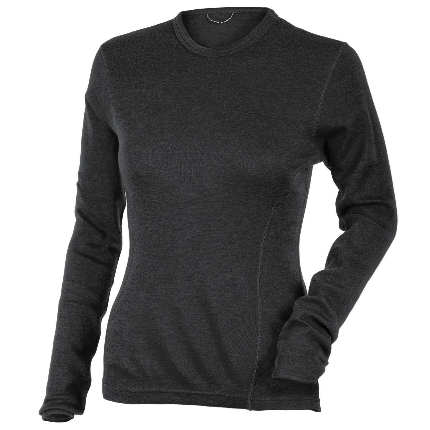 MERIWOOL Women's Merino Wool Midweight Baselayer Crew - Charcoal Gray/Medium