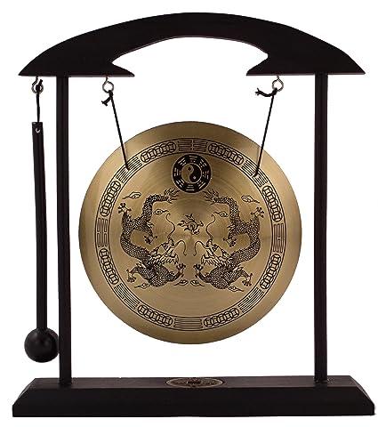 Kæmpestor Amazon.com : Zen Art Brass Feng Shui Desktop Gong by Asian Home MU49
