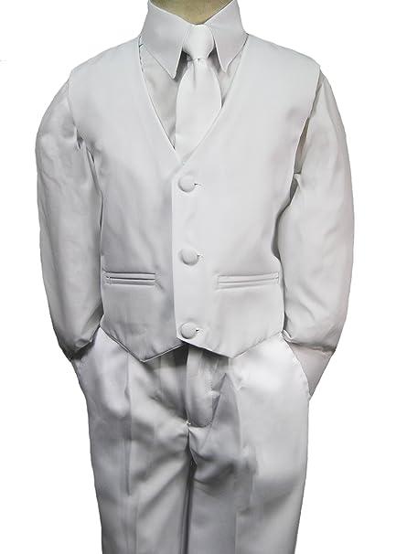 Traje de niños chaleco, niños chaleco de traje, todos los blanco ...