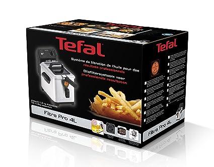 Tefal FR5160 Freidora 4 litros Profesional Acero Inoxidable, 2400 W, Negro: Amazon.es: Hogar