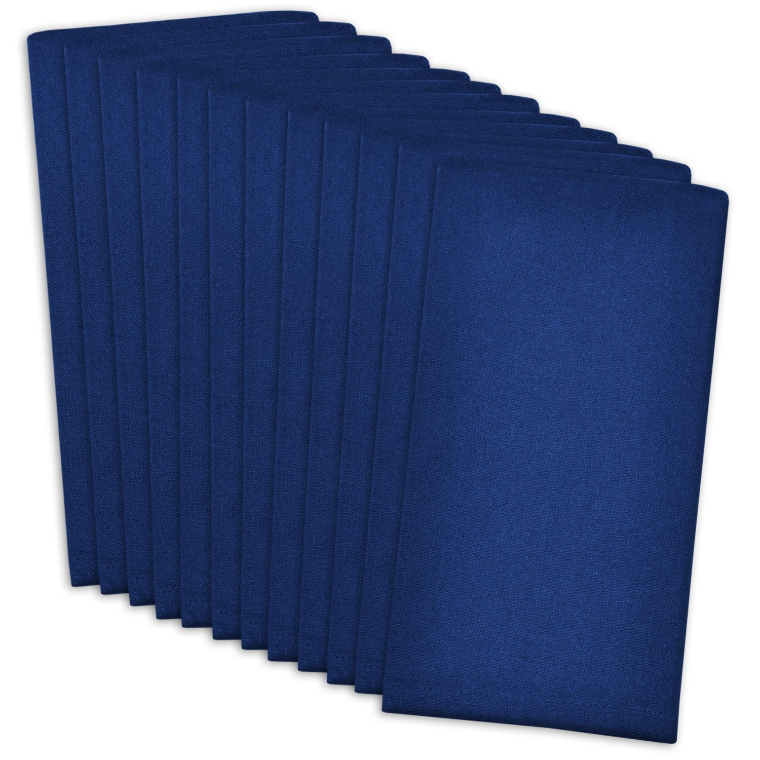 DII 100% Cotton, Machine Washable Everyday Basic Buffet Napkin, 16 x 16, Nautical Blue, Set of 12