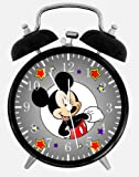 "Disney Mickey Mouse Alarm Desk Clock 3.75"" Room Decor E110 will Be a Nice Gift"