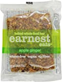 Earnest Eats 100% All-Natural Wheat-Free & Vegan Chewy Baked Energy Bars with Whole Nuts, Fruits, Seeds and Grains  - Apple Ginger,  1.9 Oz. Bars (Pack of 12),