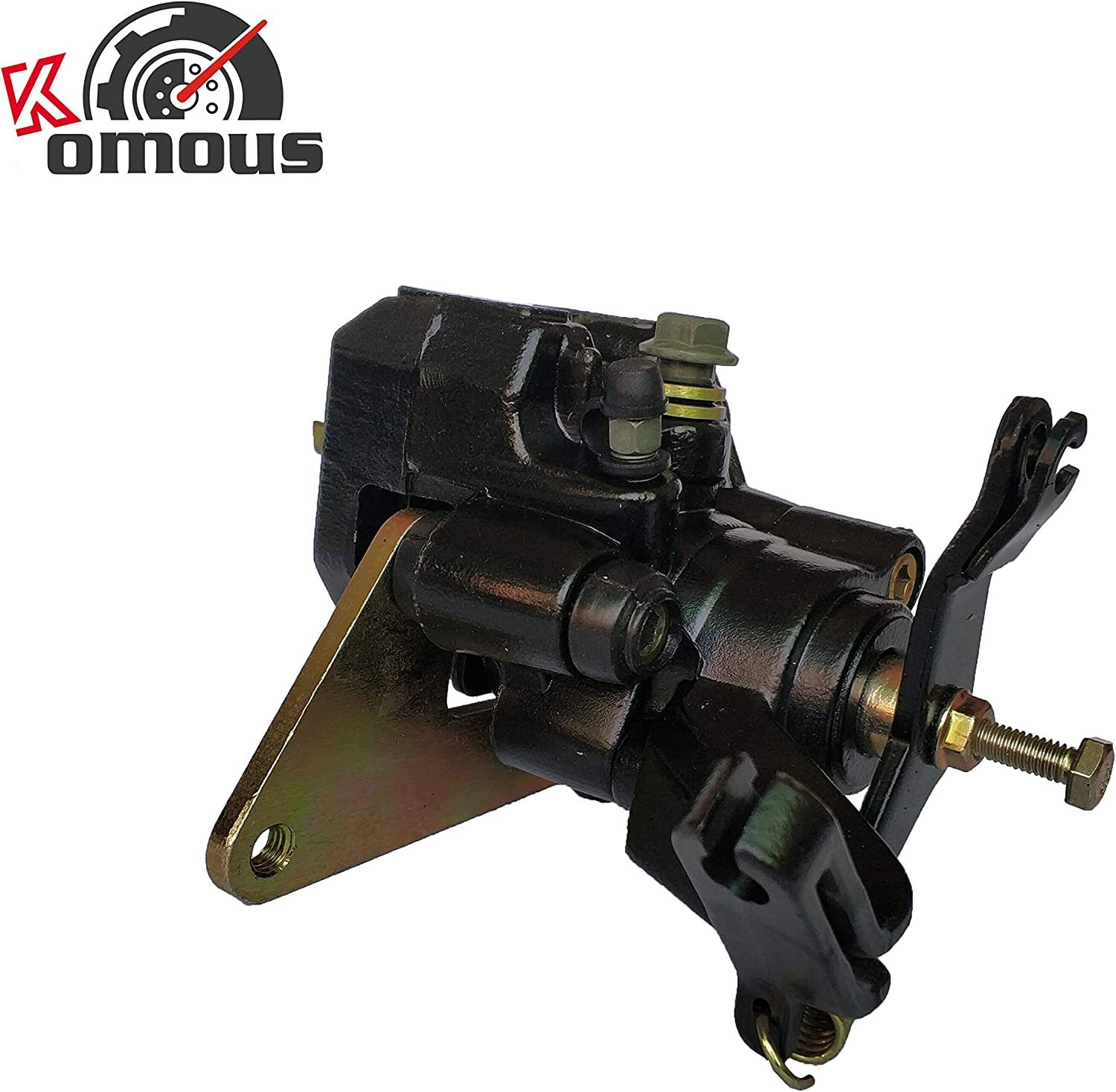 Komous Rear Brake Caliper Assembly For Arctic Cat 400 DVX 2004-2008 With Pads