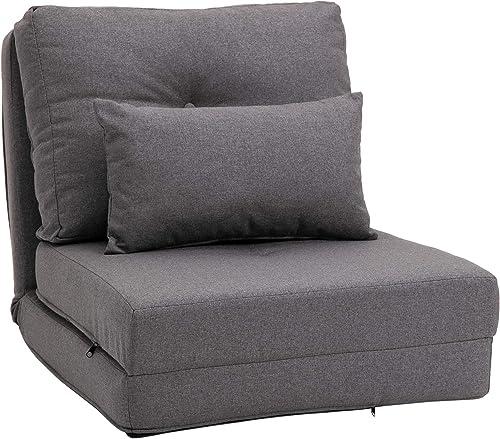 HOMCOM 2-in-1 Floor Lazy Sofa