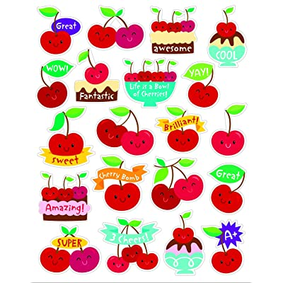 Eureka Cherry Stickers - Scented: Office Products