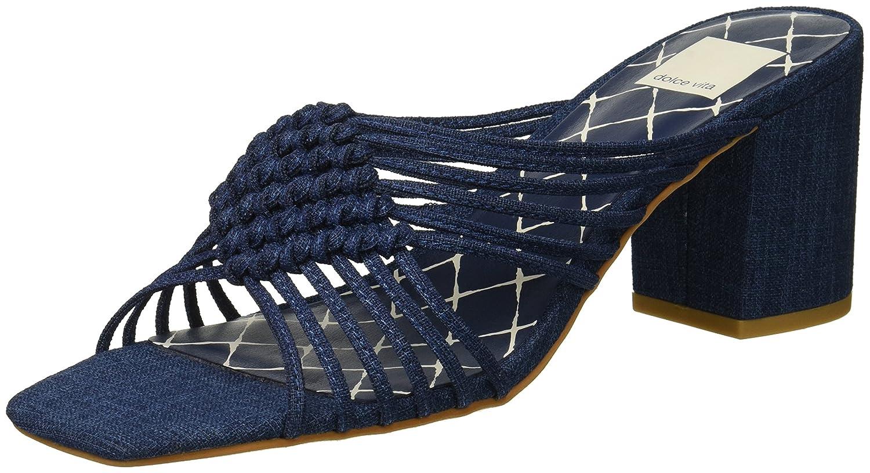 Dolce Vita Women's Delana Slide Sandal B07B9LLF45 8.5 B(M) US|Indigo Linen