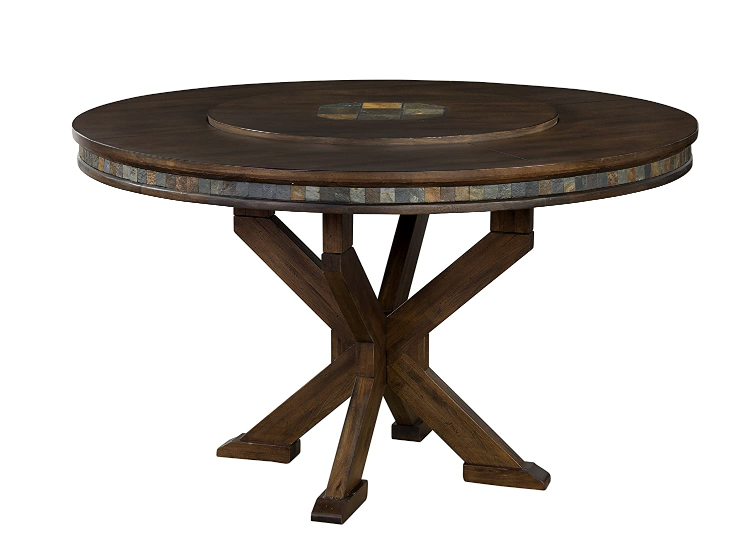 amazoncom sunny designs savannah round table with lazy susan 60inch tables - 60 Inch Round Dining Table