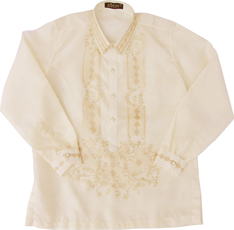 zivon mob 037 barong tagalog for men filipino dress shirt with lining small at amazon men s clothing store zivon mob 037 barong tagalog for men
