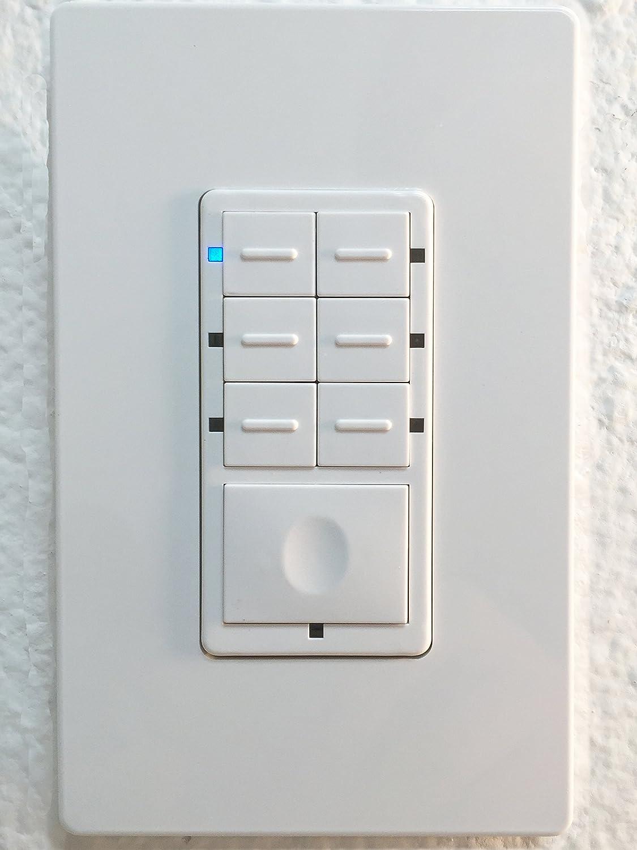 ge 45631 wave wireless lighting. enerwave zwnsc7 zwave scene controller 7button switch 2 free wall plates neutral wiring required white amazoncom ge 45631 wave wireless lighting