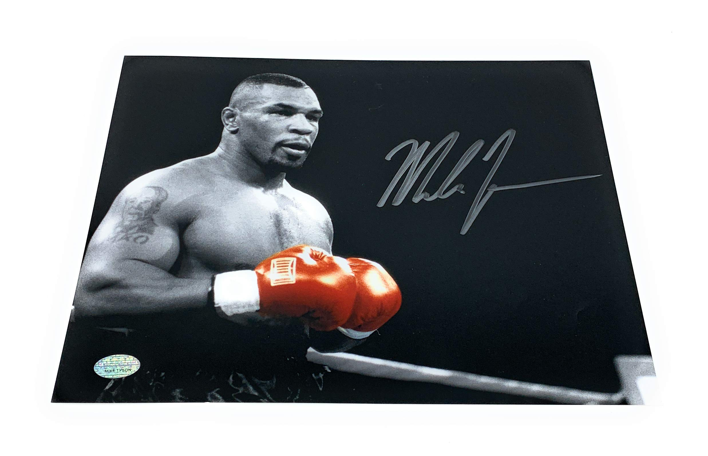 Mike Tyson Boxing Signed Autograph 8x10 Photo Photograph B&W GTSM Tyson Hologram Certified