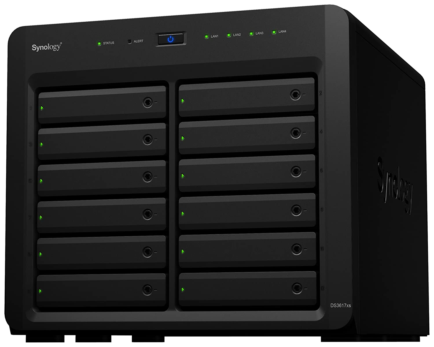 Synology DS3617xs NAS Disk Station, Diskless, 12-Bay