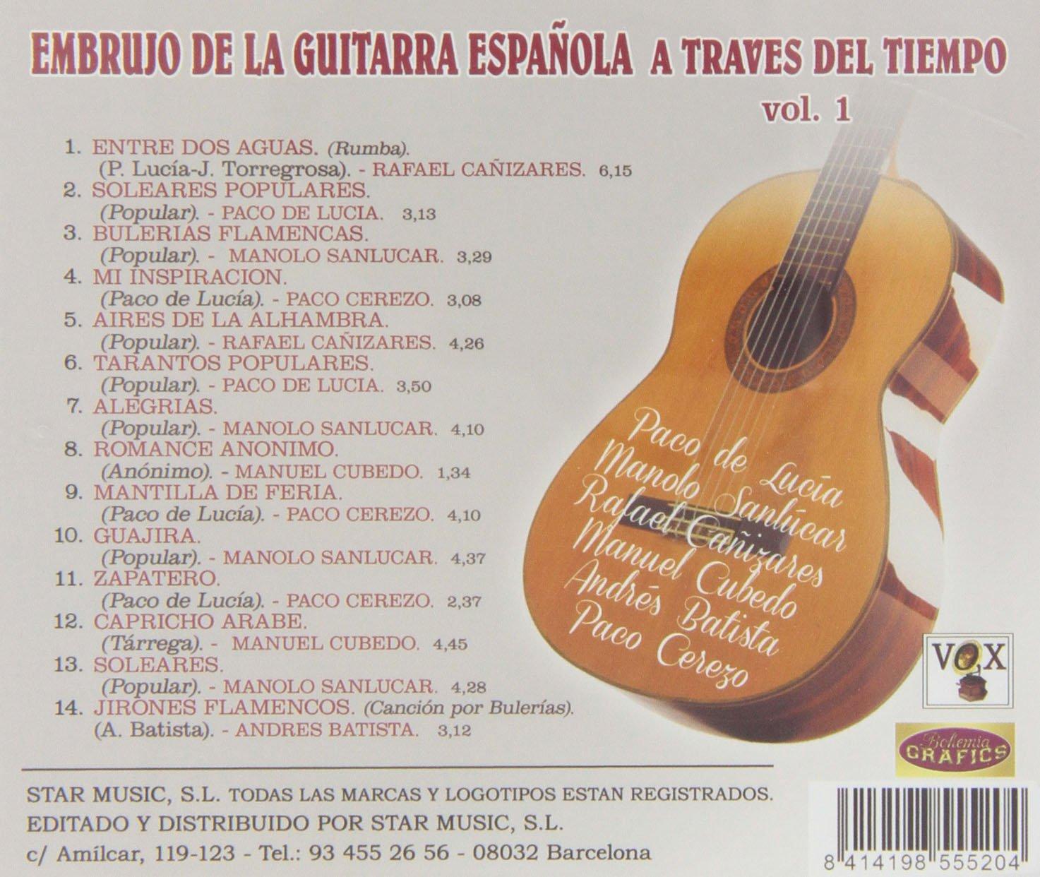 Embrujo De La Guitarra Española A Través Del Tiempo - Volumen 1 ...