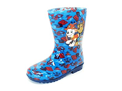 a60c81938cad Nickelodeon Licensed Paw Patrol Childrens Kids Wellington Boots Rain  Wellies Boys Girls Mid Calf Snow Boots Kids Size UK 6-12  Amazon.co.uk   Shoes   Bags