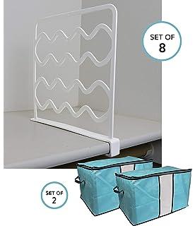 6a0ab8a3c8 Ujoyful 8 Pcs Shelf Dividers for Closets and Separator for Closets, Closet Storage  Organizer,