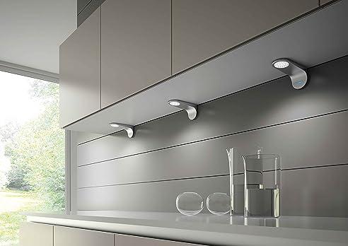 LED-Unterbauleuchte Küche mit Dimmer und Konverter, 3er Set ...