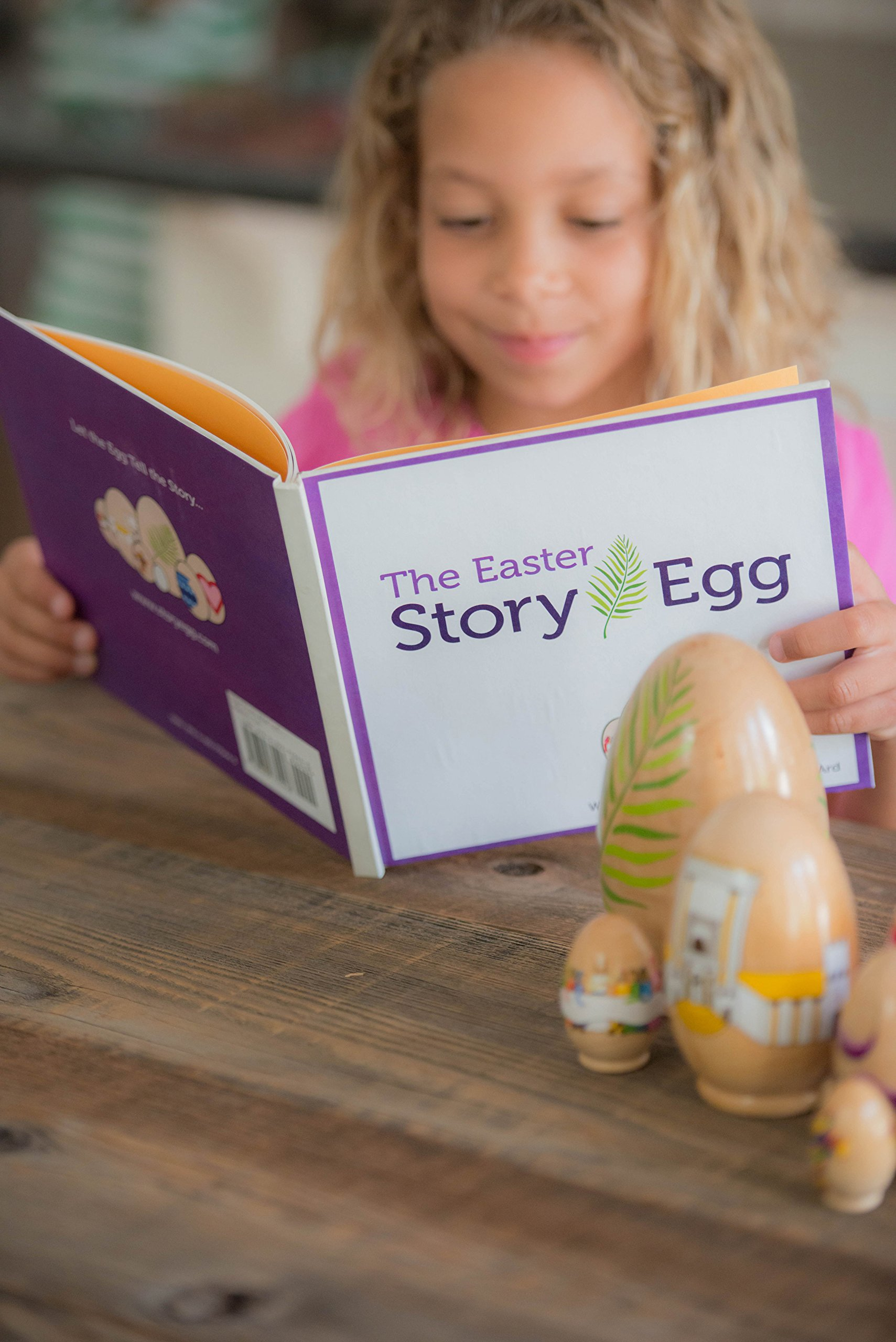 STORY EGG The Easter Colorful Nesting Toy with Resurrection Book – Great Christian or Catholic Gift for Children by STORY EGG (Image #3)