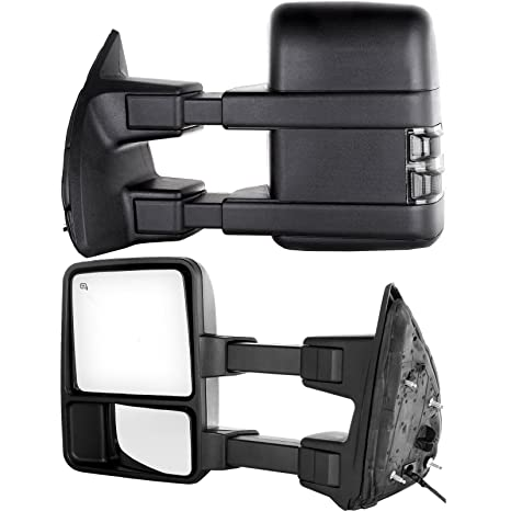 Towing Tow Mirrors Power Heated W/Smoke Signal Telescoping Folding on