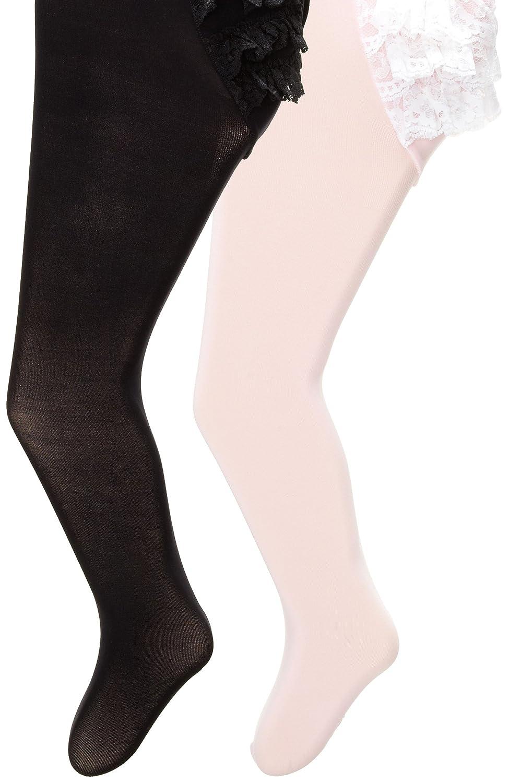 116cf1211a0eb Amazon.com: Country Kids Baby Girls' Microfiber Ruffle Rhumba Tights 2 Pair  Pack, Pink/Black 12-24 Months: Clothing