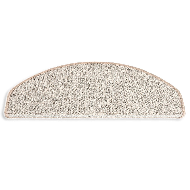 casa pura Premium Stair Tread Mats Rome, Grey, 15 Piece Set (25 x 65 cm) - Multiple Colours | Durable, Non-slip, Protection Pads