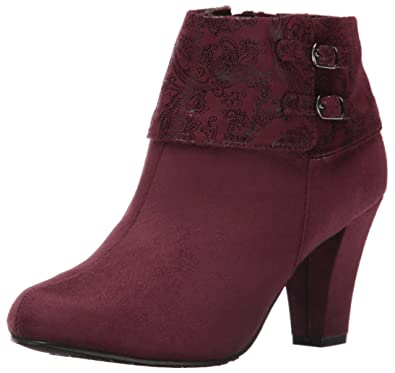 Soft Style by Hush Puppies Women's creel Boot, Sassafras Faux Suede/Sassafras Paisley Faux Suede, 6 W US