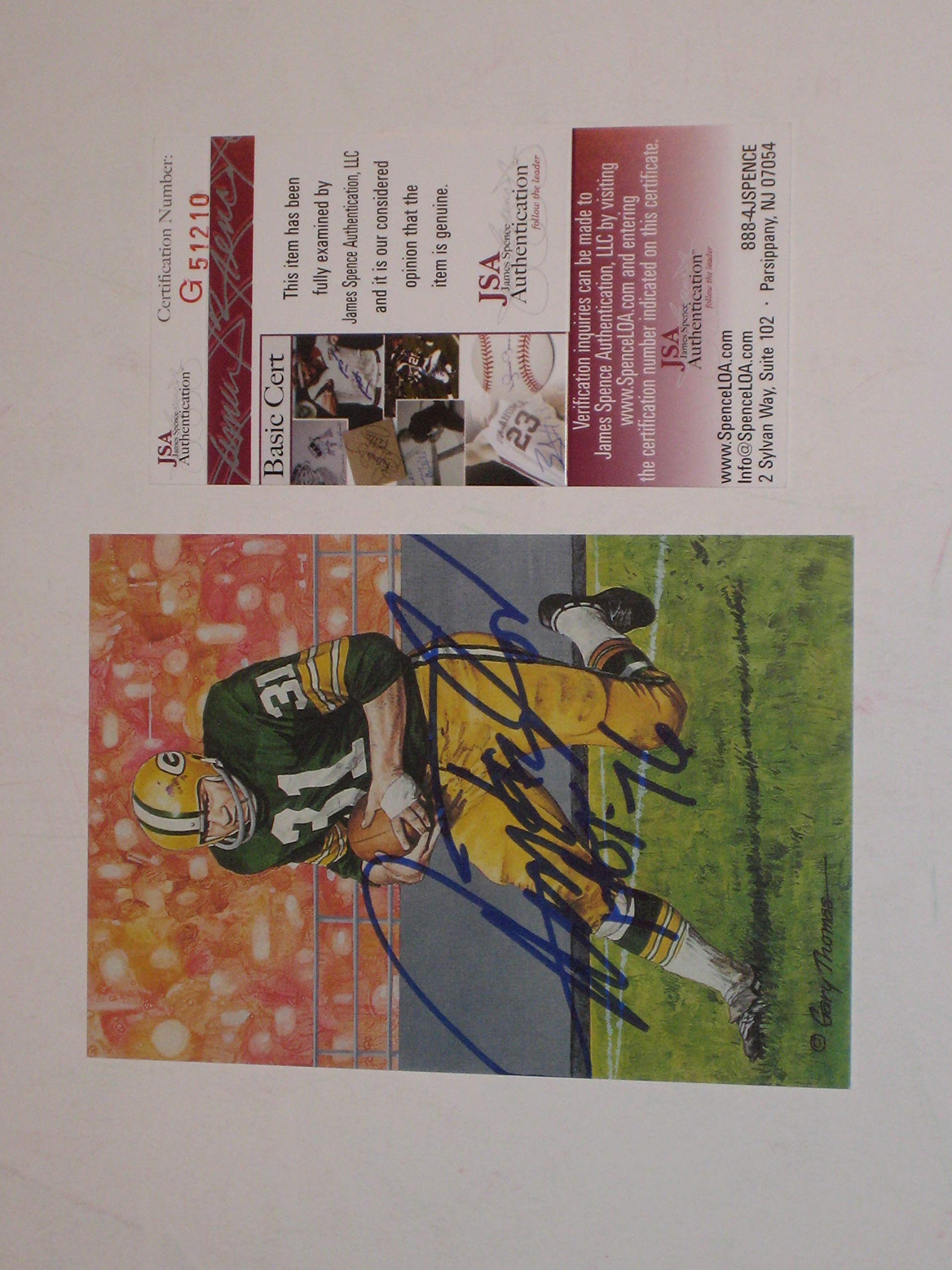 Jim Taylor Green Bay Packers Autographed Goal Line Art Card #2964/5000 (JSA COA)