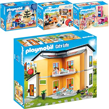 Playmo PLAYMOBIL® City Life Set En 4 Parties 9266 + 9267 + 9270 + 9495