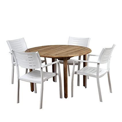 5 Piece Teak Patio Dining Set