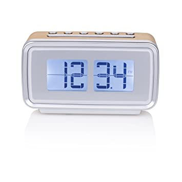 Smartwares CL-1474 - Reloj despertador, retro, radio FM, pantalla regulable: Amazon.es: Electrónica