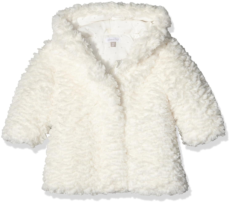 Absorba Baby-Mädchen Mantel Manteau Fourrur