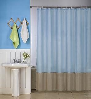 GorgeousHome (H10) 1 New Fabric Bathroom Bath Shower Curtain 2 Shade Mix  Color 72