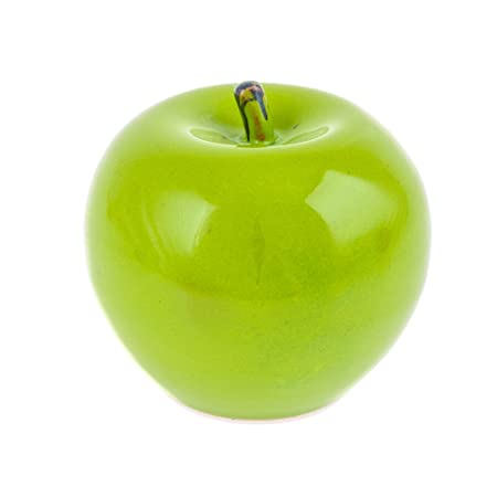 Modern Handmade Ceramic Green Apple Kitchen Decor Ornament 3.9u0027u0027 (10cm) By  Elitecrafters