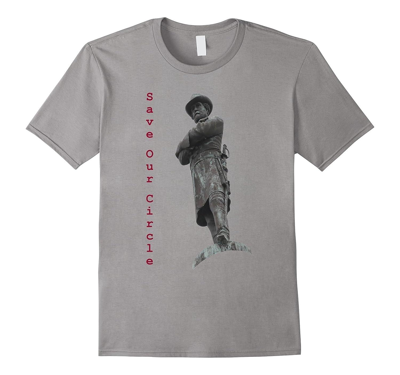 Save Our Circle Robert E Lee Statue Tee Shirt-CD