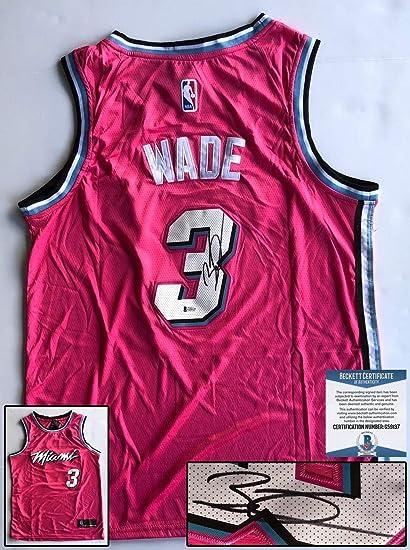 premium selection 3f64c 7f033 Miami Heat Dwyane Wade Autographed Signed Memorabilia Jersey ...