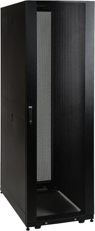 Tripp Lite 42U Standard-Depth Server Rack Enclosure Cabinet with doors & side panels, 3000-lb. capacity, Black (SR42UB)