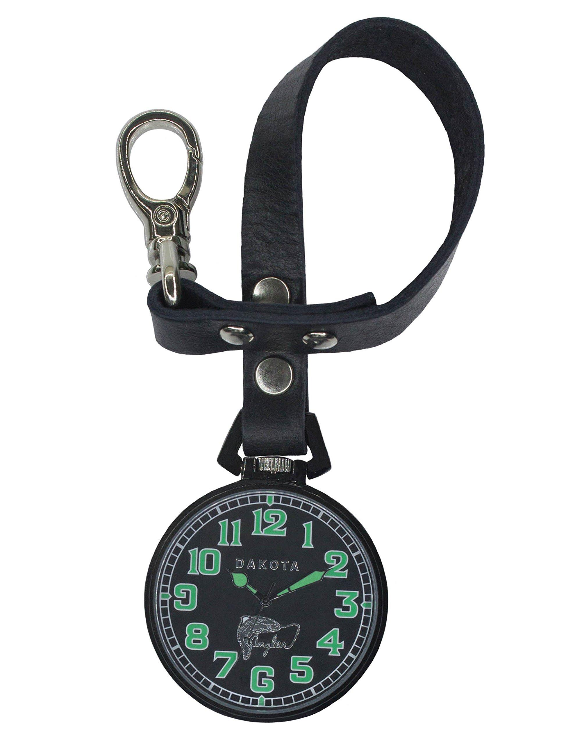 Dakota Men's Quartz Metal and Leather Watch, Color:Black (Model: 31791) by Dakota