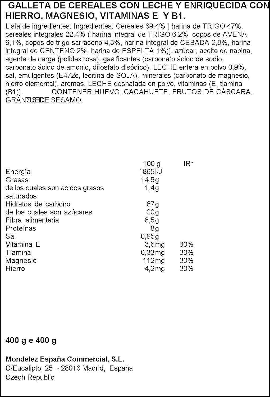 Bel Vita Desayuno - Galleta de Cereales con Leche, 400 g - [Pack de 7]: Amazon.es: Alimentación y bebidas