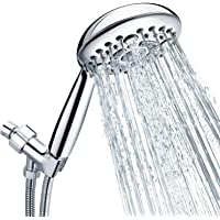 "Shower Head, SR SUN RISE 6-Settings 4.8"" High Pressure Handheld Shower Head Set with 2.45 Meter/96 Inch/ 8 FT Long…"