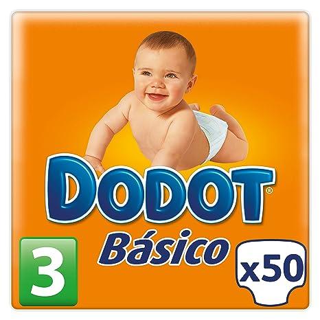 Dodot Básico - Pañales, talla 3 (5-10 kg), 50 unidades
