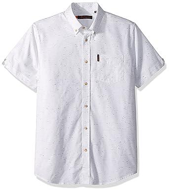 0a8474de17ec6 Amazon.com: Ben Sherman Men's Short Sleeve Plain NEP Shirt: Clothing