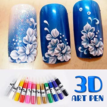 Amazon Perfect Summer Hot Design 3d Nails Art Classic Painting
