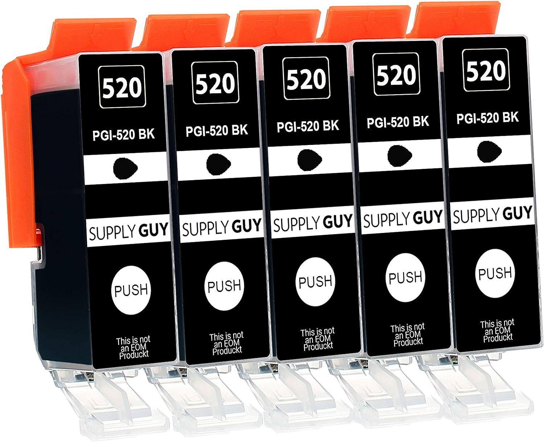 Supply Guy 5 Druckerpatronen Mit Chip Kompatibel Mit Canon Pgi 520 Schwarz Für Canon Pixma Ip 3600 Ip 4600 Ip 4700 Mp 540 Mp 550 Mp 560 Mp 620 Mp 630 Mp 640 Mp 980 Mp 990 Mx 860 Mx 870 Bürobedarf Schreibwaren