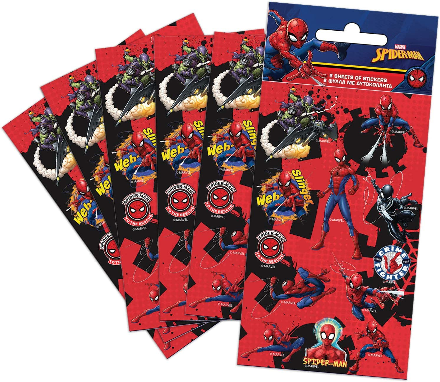 Paper Projects Spider-Man Autocollants Coloris Assortis 9107151